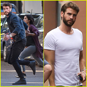 Liam Hemsworth Films 'Killerman' Action Scene with Diane Guerrero