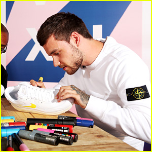 Liam Payne Turns a Pair of Sneakers Into an Art Project!