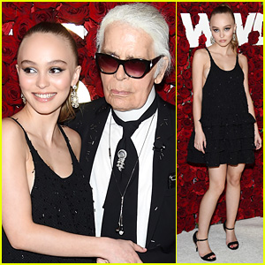 Lily-Rose Depp Joins Karl Lagerfeld at WWD Honors Event!