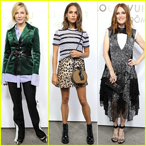 Oscar Winners Cate Blanchett, Alicia Vikander, Julianne Moore, & More Attend Louis Vuitton's Store Opening