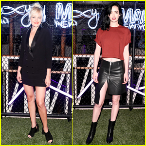 Malin Akerman & Krysten Ritter Buddy Up at Moxy Times Square's Grand Opening!