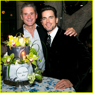Matt Bomer Celebrates 40th Birthday Early with Hubby Simon Halls at 'Modern Luxury' Party!