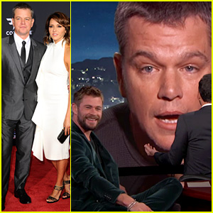 Matt Damon Tries to Ruin Chris Hemsworth's 'Kimmel' Interview