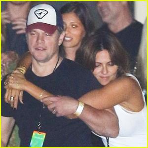Matt Damon & Wife Luciana Enjoy Date Night at Coldplay Concert