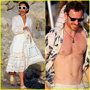 Michael Fassbender & Alicia Vikander Host Beach Party Ahead of Rumored Wedding Weekend!