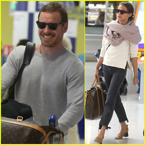 Michael Fassbender & Alicia Vikander Spotted at Airport Ahead of Possible Wedding!