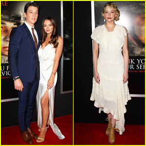 Miles Teller & Keleigh Sperry Couple Up at 'Thank You For Your Service' Premiere!