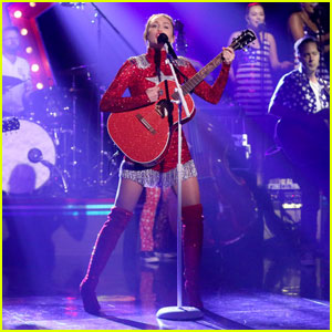 Miley Cyrus Performs 'These Boots Are Made for Walkin' on 'Tonight Show' for Hillary Clinton - Watch Here!