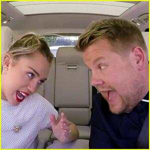 Miley Cyrus Sings Her Throwback Songs on 'Carpool Karaoke' - Watch Now!