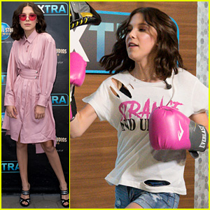 Millie Bobby Brown Tries a Boxing Class on Premiere Day!