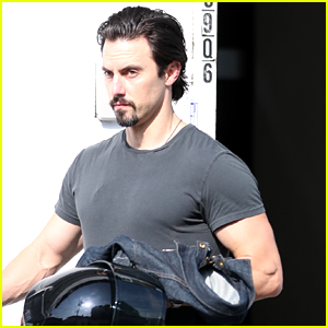 Milo Ventimiglia Shows Off His Buff Biceps Leaving the Gym