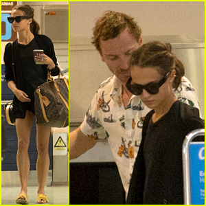 Newlyweds Alicia Vikander & Michael Fassbender Fly Out of Ibiza - See Their Wedding Rings!