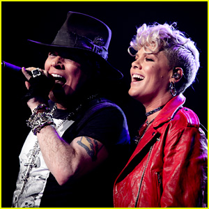 Pink Makes Surprise Appearance at Guns N' Roses Concert!