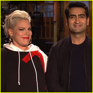 Pink & Kumail Nanjiani Get Silly in 'Saturday Night Live' Promos - Watch!