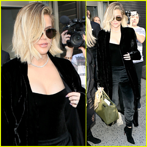 Pregnant Khloe Kardashian Continues Promoting Good American in NYC