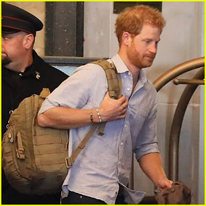 Prince Harry Exits Toronto Hotel After Closing Out Invictus Games with Meghan Markle!