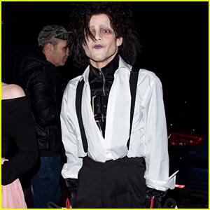 Rami Malek Wins Halloween with Edward Scissorhands Costume