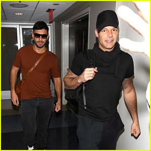 Ricky Martin & Fiance Jwan Yosef Leave LA to Help Puerto Rico!