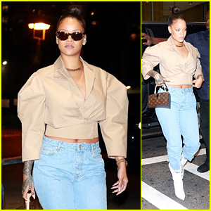 Rihanna Rocks White Boots for a Night Out on the Town in NYC!