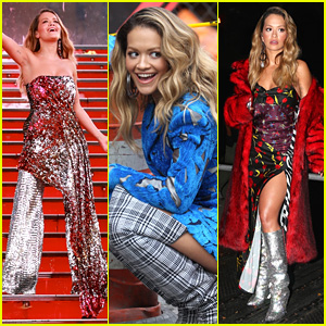 Rita Ora Wears Eight Outfits on Set of Her New Music Video!