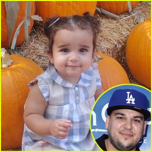 Rob Kardashian Shares Adorable Photos of Daughter Dream Pumpkin Picking!