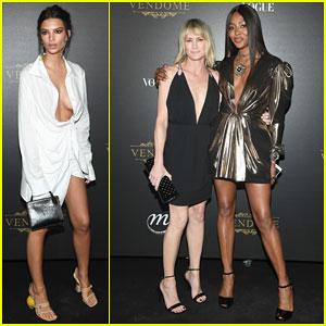 Robin Wright, Naomi Campbell & Emily Ratajkowski Celebrate Paris Fashion Week at Vogue Party!