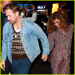 Ryan Gosling & Eva Mendes Hold Hands at 'SNL' After Party (Photos)