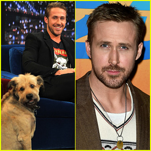 Ryan Gosling Remembers His Late Dog George on 'Ellen,' Wears His Tag as Necklace (Video)