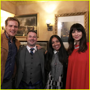 Outlander's Sam Heughan & Caitriona Balfe Step Out to Support 2 Great Causes