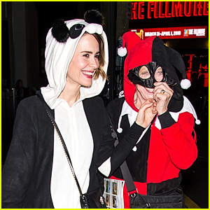 Sarah Paulson & Holland Taylor Look Cute in Their Halloween Costumes at Shyamaween 2017!