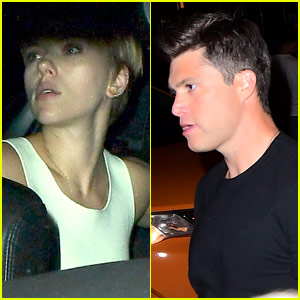 Scarlett Johansson Drops Rumored Boyfriend Colin Jost Off at 'SNL' After Party