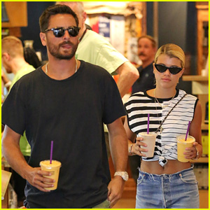 Scott Disick & Sofia Richie Grab Coffee Before Flying Out of Town
