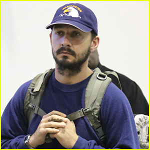 Shia LaBeouf Keeps a Low Profile for His Flight into LAX
