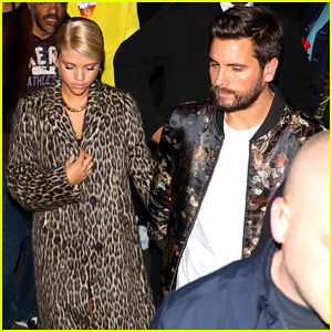 Scott Disick & Sofia Richie Stay Close During Stylish Date Night