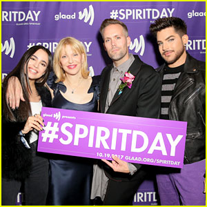 Adam Lambert, Courtney Love, Sofia Carson & More Support LGBTQ Youth at Justin Tranter's Spirit Day 2017 'Believer' Concert!