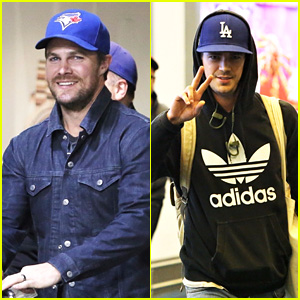 Stephen Amell & Grant Gustin Return to Vancouver to Film Their Shows!