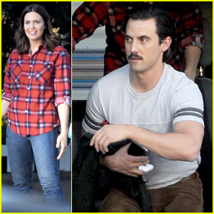 Milo Ventimiglia & Mandy Moore Film 'This Is Us' Scene Together