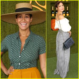 Tracee Ellis Ross Wears Chic Sun Hat for Veuve Clicquot Polo Classic in LA