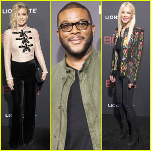 Tyler Perry Gets Support from Carmen Electra & Tara Reid at 'Boo 2 A Madea Halloween' Premiere!