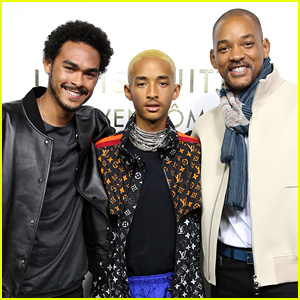 Will Smith Joins Sons Jaden & Trey at Louis Vuitton Event in Paris