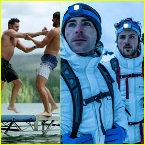 Zac Efron & His Brother Dylan Test Out Gear on a Road Trip & There Are Shirtless Moments (Video)