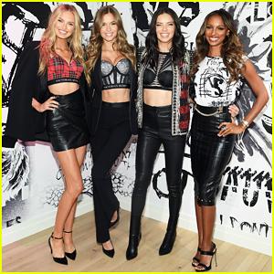 Adriana Lima & Victoria's Secret Angels Reunite in NYC Ahead of Fashion Show 2017!