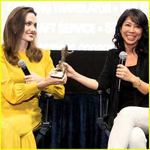 Angelina Jolie & Loung Ung Accept Award at Asian World Film Festival!