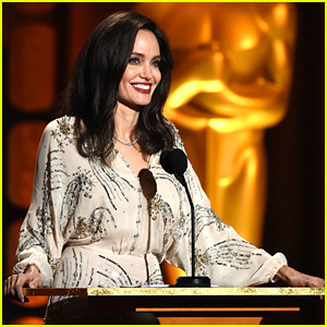 Angelina Jolie Speaks On Stage While Presenting at Governors Awards 2017