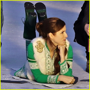 Anna Kendrick Gets Chilly on the Ice While Filming Christmas Movie 'Noelle'