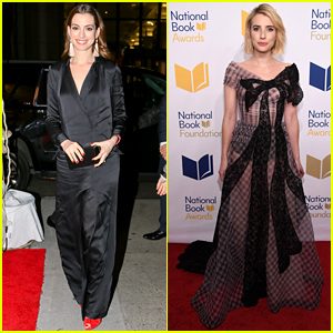 Anne Hathaway & Emma Roberts Team Up for National Book Awards 2017