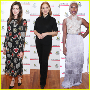 Anne Hathaway, Jessica Chastain & More Perform at The Children's Monologues' Benefit!