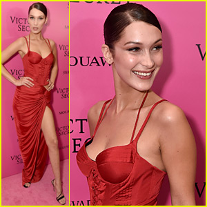 Bella Hadid Stays Smiley in Sexy Red Dress at Victoria's Secret Fashion Show After Party!