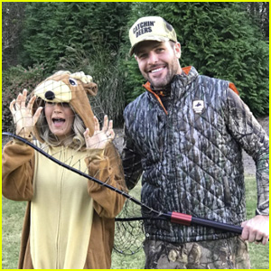 Carrie Underwood Dresses as a Deer Caught By Husband Mike Fisher for Halloween