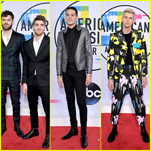 The Chainsmokers, G-Eazy & Machine Gun Kelly Hit the Red Carpet at American Music Awards 2017!